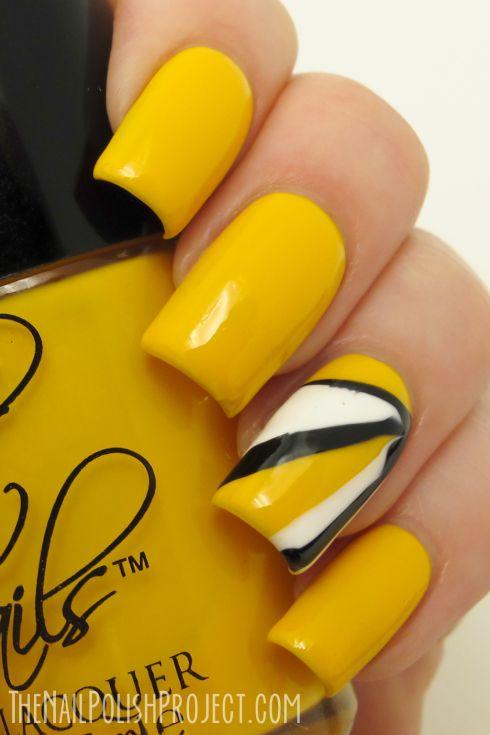 Cool Yellow Acrylic Nail Design Ideas Yellow Nail Art Cute Nail Art Designs Trendy Nail Art Designs