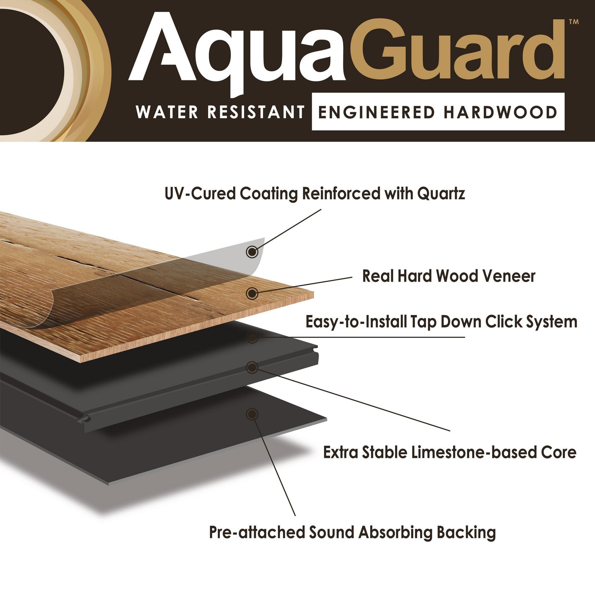 Water On Prefinished Hardwood Floors: Rich Brown Hickory Water-Resistant Engineered Hardwood