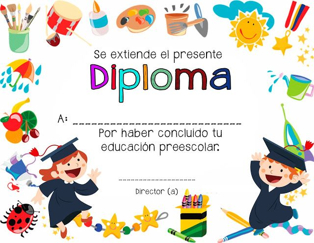 7 Diplomas para culminación de estudios preescolares ~ Educación