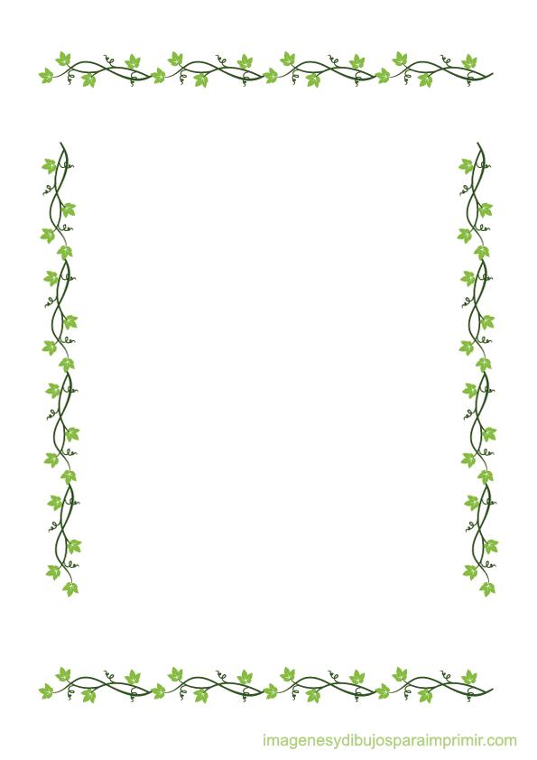 Hojas para decorar folios marco 1 pinterest hoja for Plantas decorativas hojas