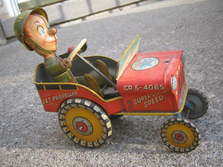 Vintage Toys From the 1940s | 1940s Racer Tin Toy