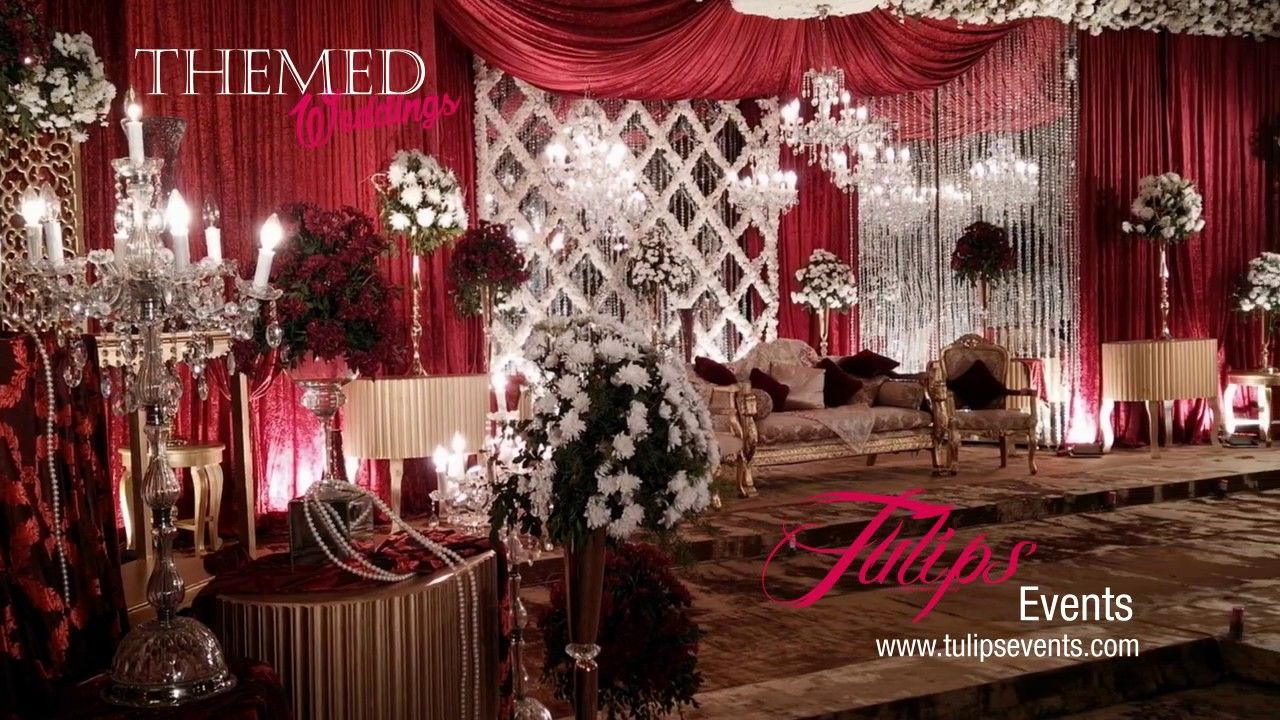 Red and Gold Baraat Decoration Ideas | Best weddings decorations ideas i...  in 2020 | Fun wedding decor, Wedding decorations, Wedding table setup