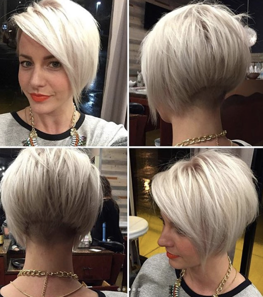 Short concave bob 11  Bob haircut for fine hair, Short hair