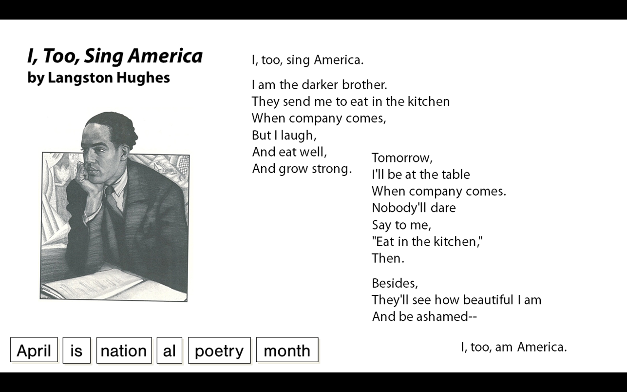 theme for english b by langston hughes essay Today, we will read the poem, theme for english b by langston hughes to see how hughes' beliefs and values are reflected in his work (ccssela-literacyrl9-104) through his language choices i will ask students to recall the beliefs and values of dr king in his i have a dream speech and of malcolm x in his the black revolution speech.