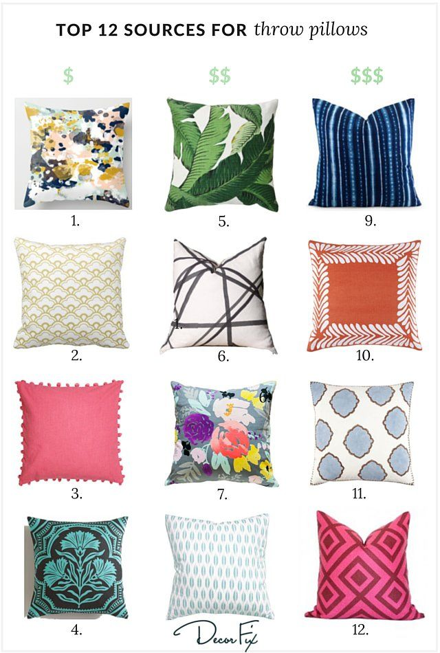 my top 12 sources for great throw pillows | ranges, the top and i love