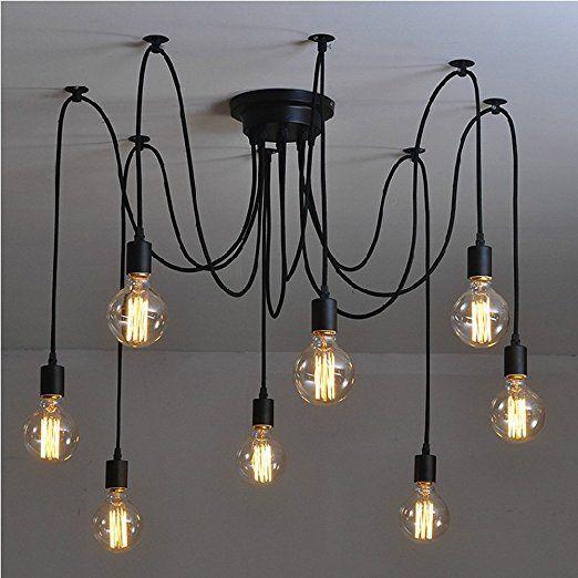Lixada Kronleuchter Pendelleuchten 6 Lichter Hängende Lampen  Deckenbeleuchtung: Amazon.de: Beleuchtung