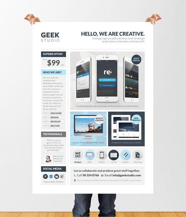 Design Services (Web/App/Graphic) Flyer/Poster Template Poster