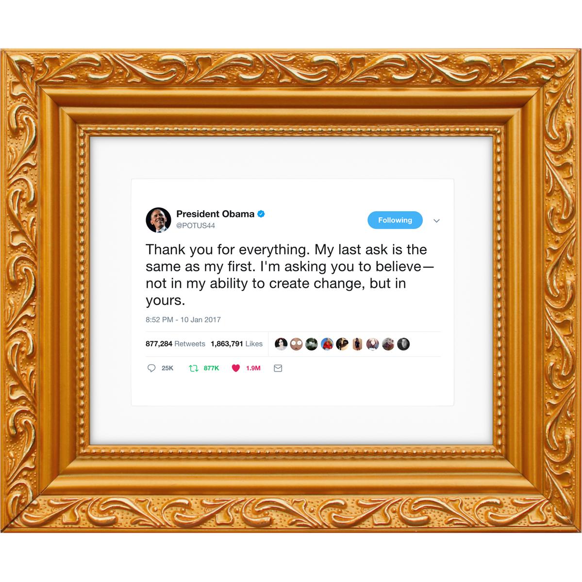 Fancy Barack Obama Framed Tweet Kanye West Quotes Kanye West Kanye