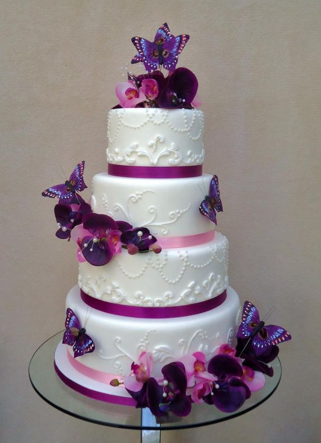 wedding cakes with purple accents purple accent butterfly decor wedding cake we can help 26088