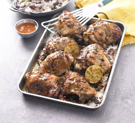 Jerk chicken with rice peas recipe rice john torode and recipes bbc good food forumfinder Images
