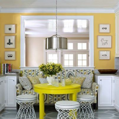 kenneth brown interiors | Kenneth Brown Design - no dining room solution.