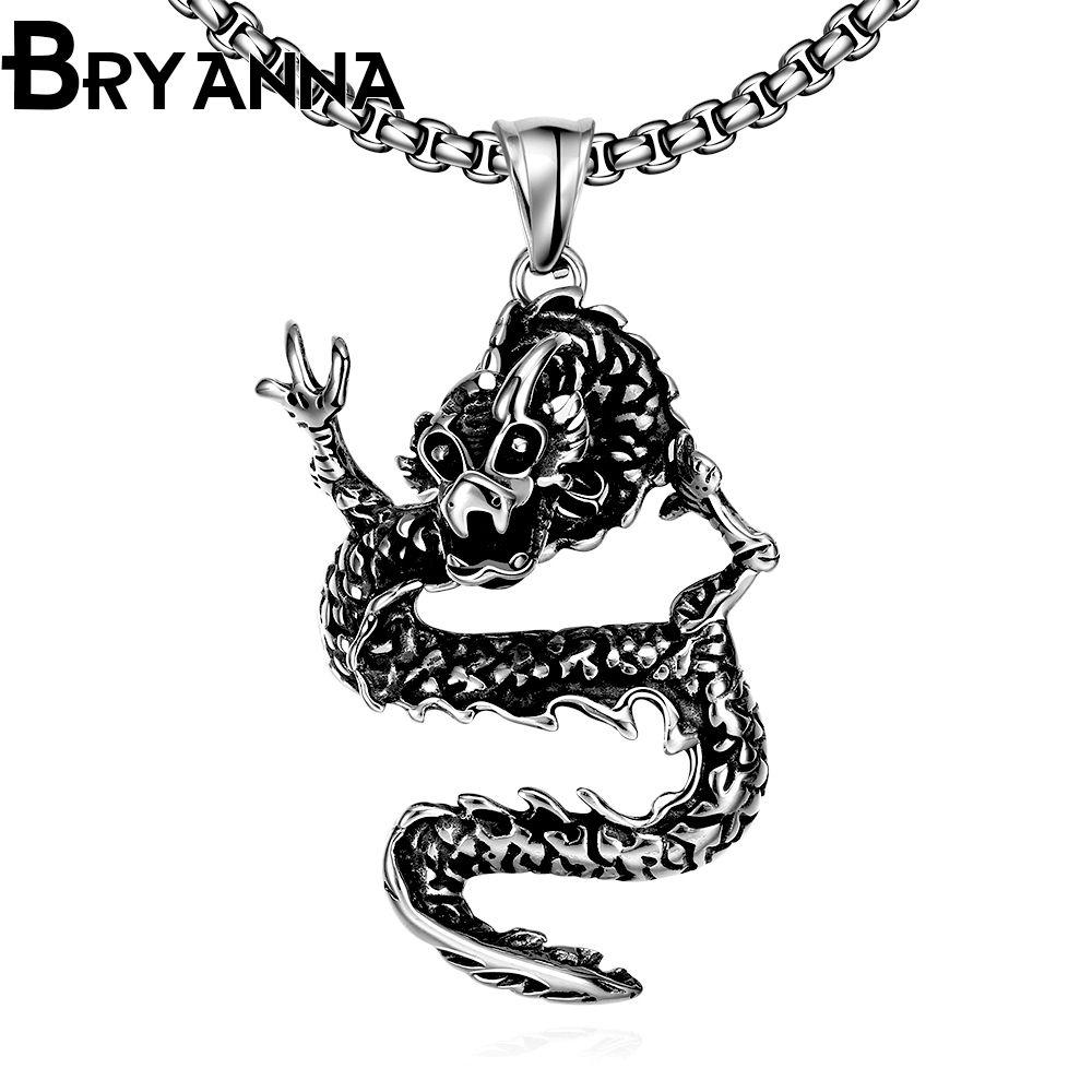 Bryanna punk long chain pendant necklaces for man jewelry colar l
