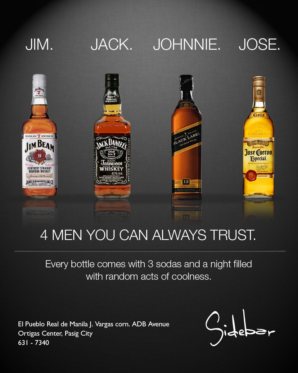 sidebar promotional advertisement for jim jack johnnie and jose sidebar promotional advertisement for jim jack johnnie and jose
