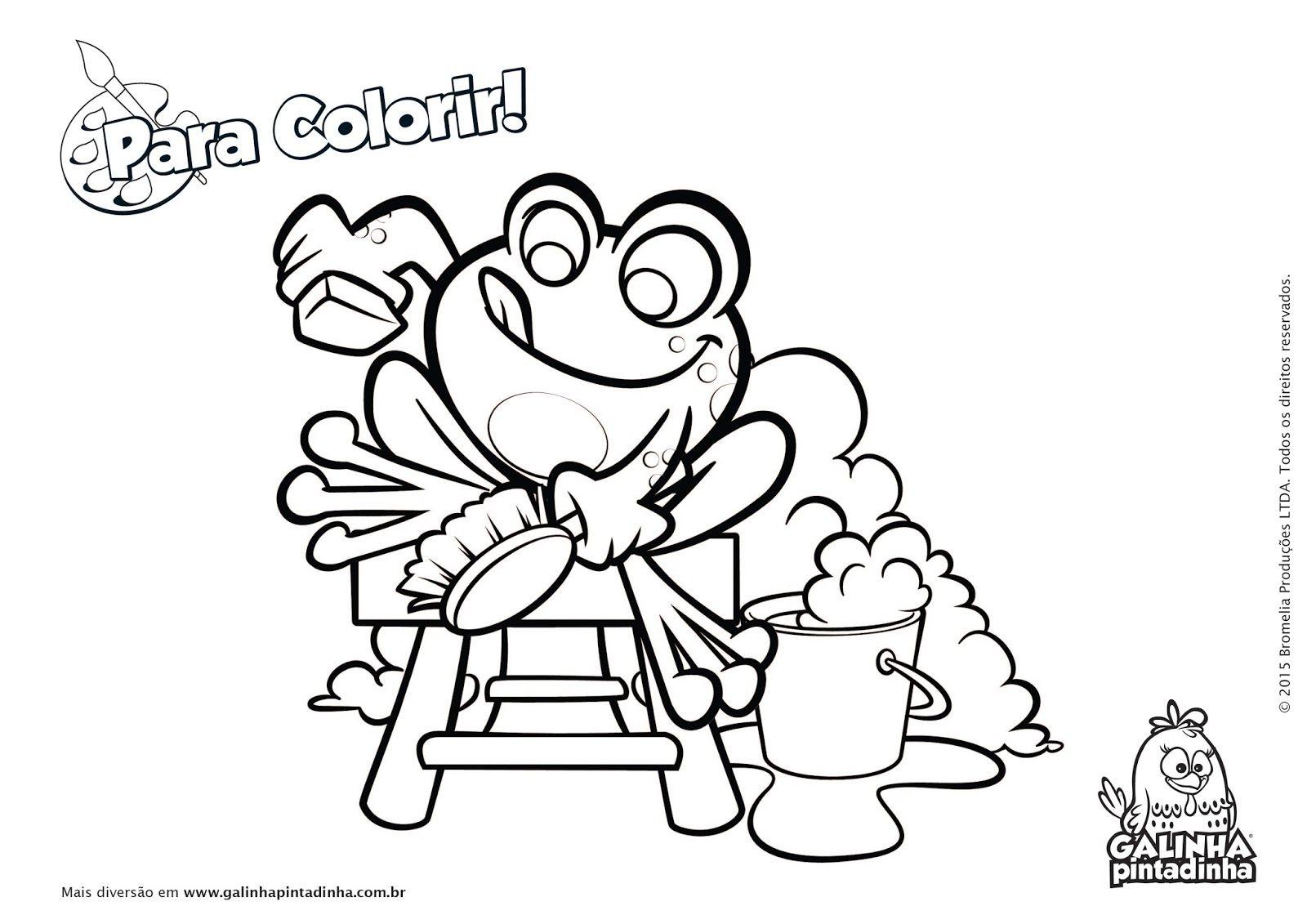 Galinha Pintadinha Para Colorir E Imprimir: Desenho De Galinha Da Angola Para Colorir
