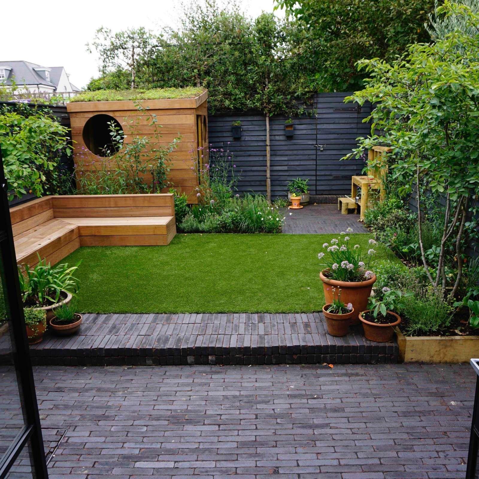 Smallgarden Teddington Terraza Jardin Club De Londres Small Garden Landscape Garden Design Layout Small Courtyard Gardens