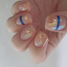 Glass Nail Art Is Still the Latest Korean Beauty Craze You Need to Try #holiday ... ,  #Art #... #koreannailart