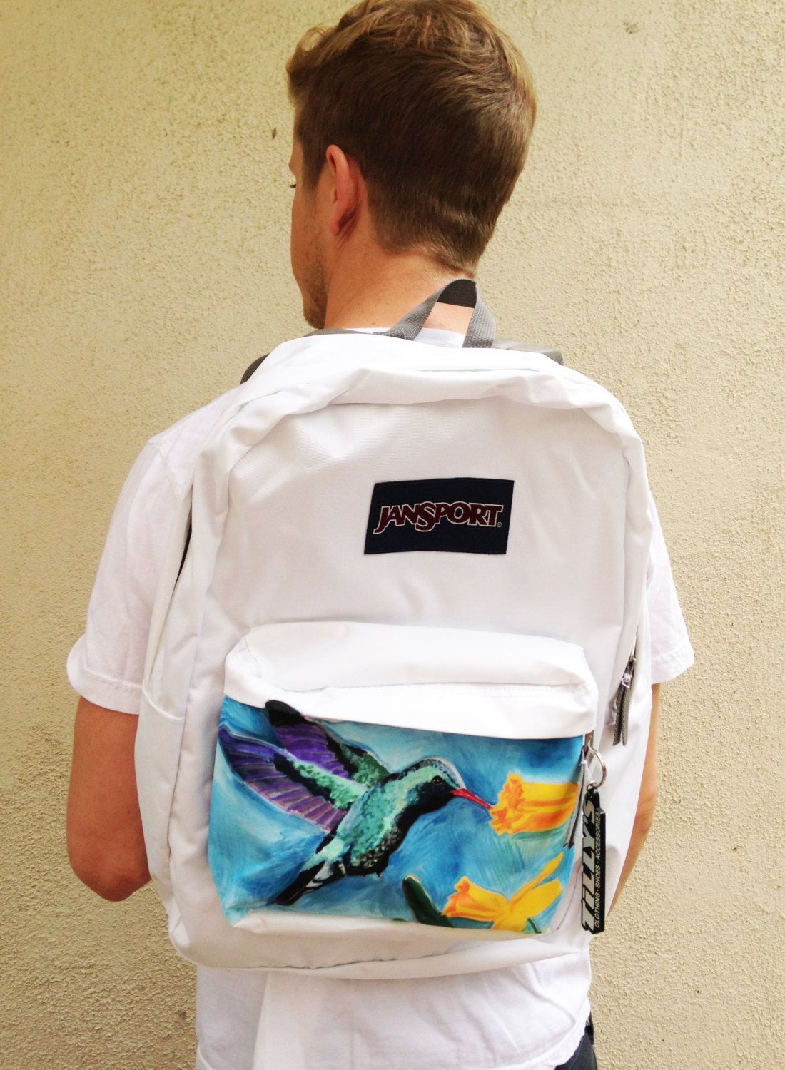 Custom JanSport Backpack - Hummingbird and Flowers | Hiking ...