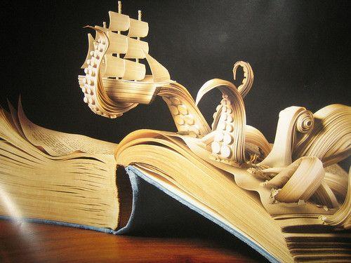 Book art. Nice idea!