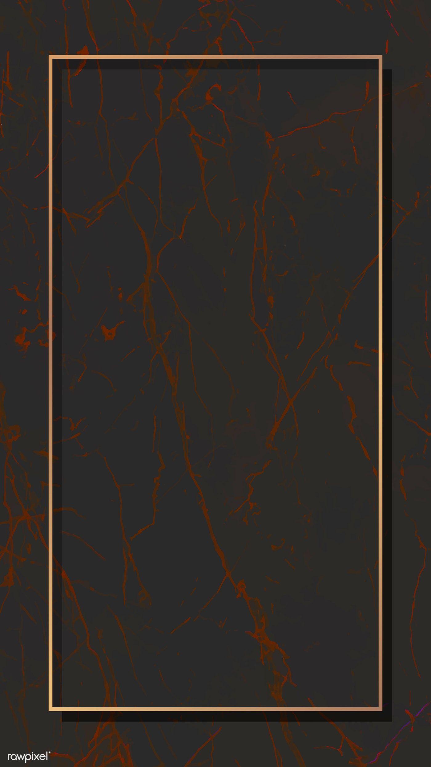 Download Premium Illustration Of Rectangle Gold Frame On Dark