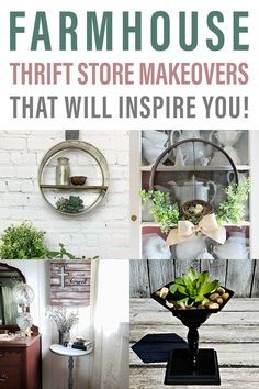 Unique Farmhouse Thrift Store Makeovers to Inspire #thriftstoreupcycle