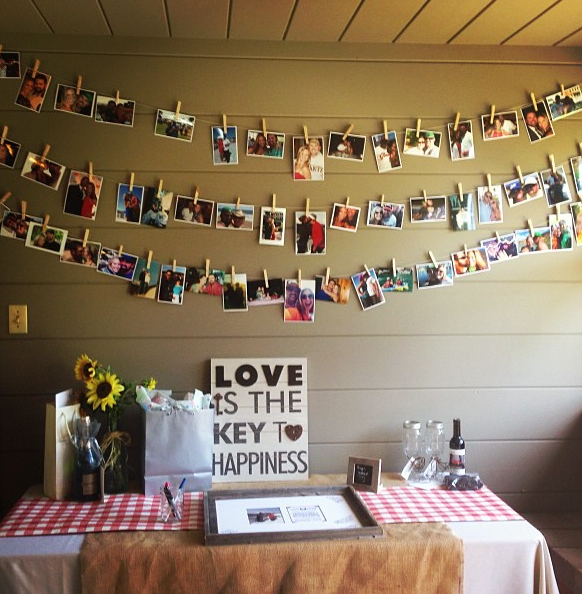 cute engagement party ideas at home. engagement party decor  www PerfectDayWeddingPlanners com