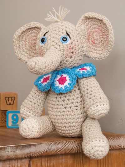Free Crochet Elephant pattern featured in Season 8 of Knit and ...