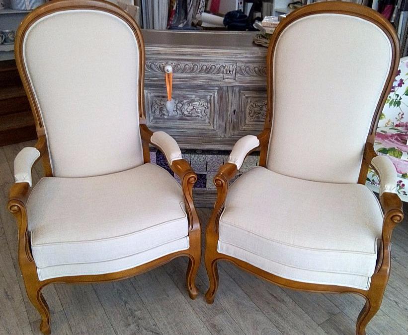 les belles assises juillet 2016 recouverture d 39 un fauteuil voltaire de style louis philippe. Black Bedroom Furniture Sets. Home Design Ideas