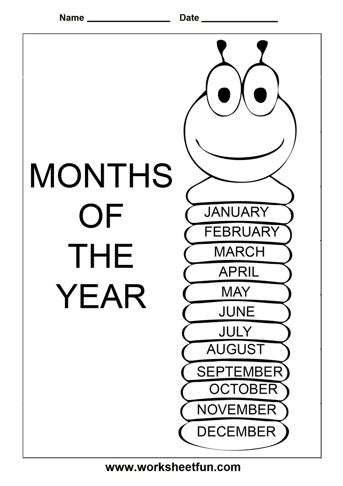 Months With Numbers