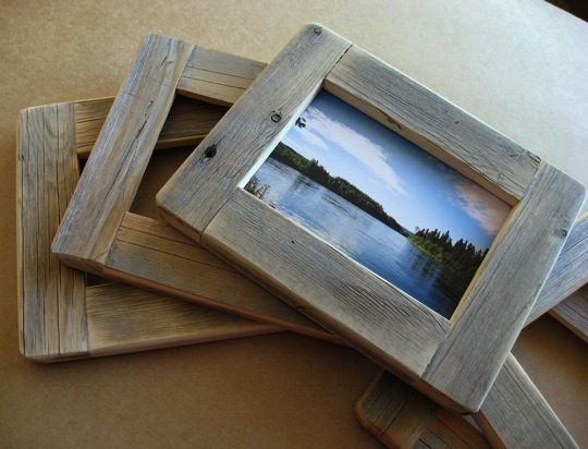 Sing Frame cut from old barn 2x4\'s. Dove tail and grooved for insert ...