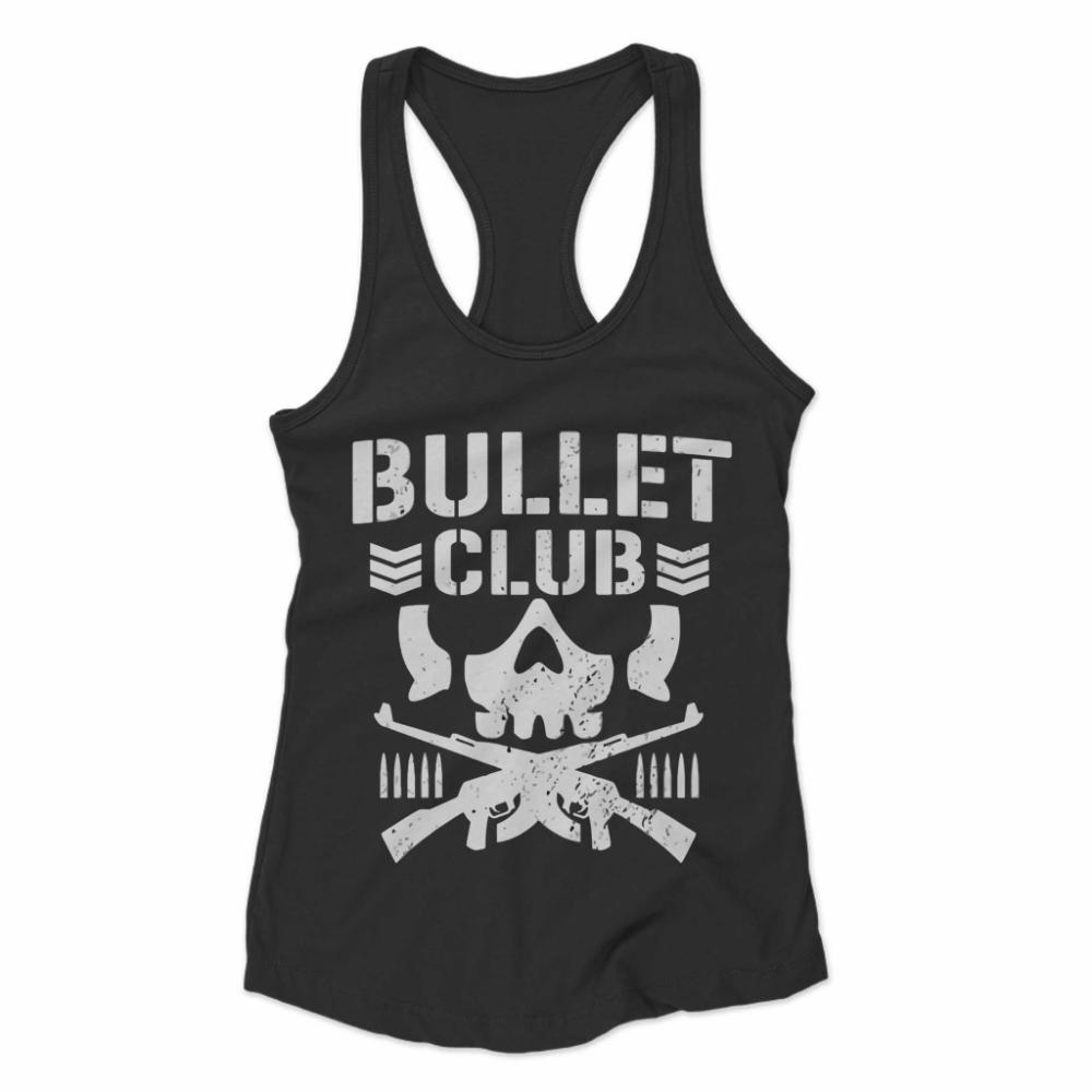 Bullet Club Top New Japan Pro Wrestling Women S Racerback Tank Geekz Merch Womens Racerback Tank Womens Racerback Racerback Tank