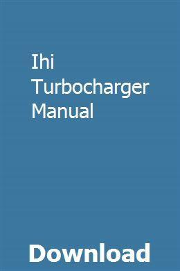 Ihi turbocharger manual pdf