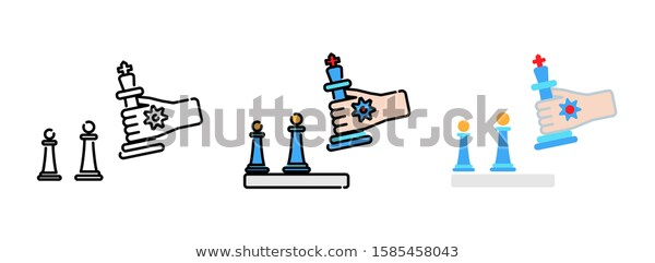 Business Strategy Icon Set Isolated On Stock Vector Royalty Free 1585458043 Business Strategy Icon Set Stock Vector