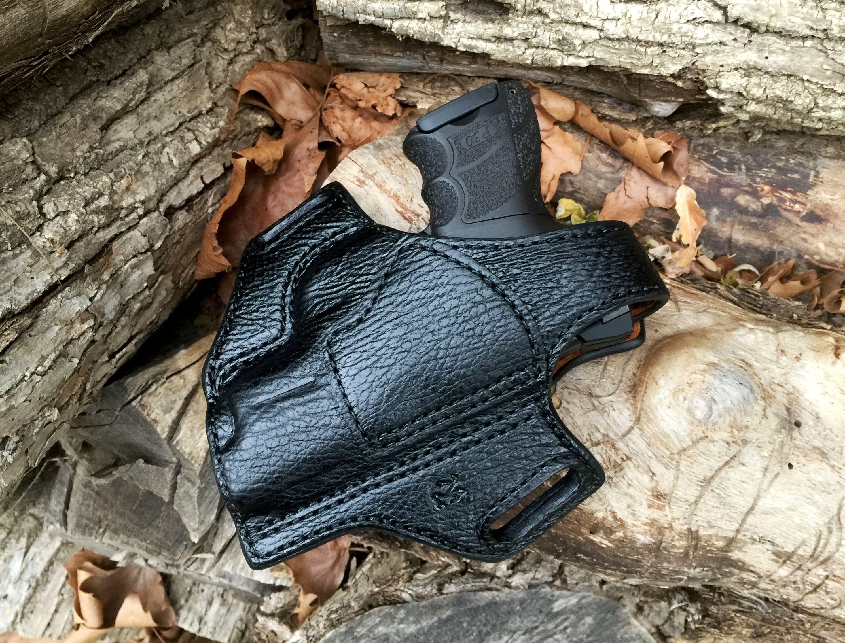 Osprey mens leather gloves - Nightingale Leather Hk P30sk Osprey Owb Holster Full Coverage Black Shark W Thumb Break