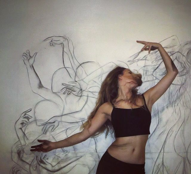 Zarah Abraham Dance Paintings Contemporary Dance Movement Drawing