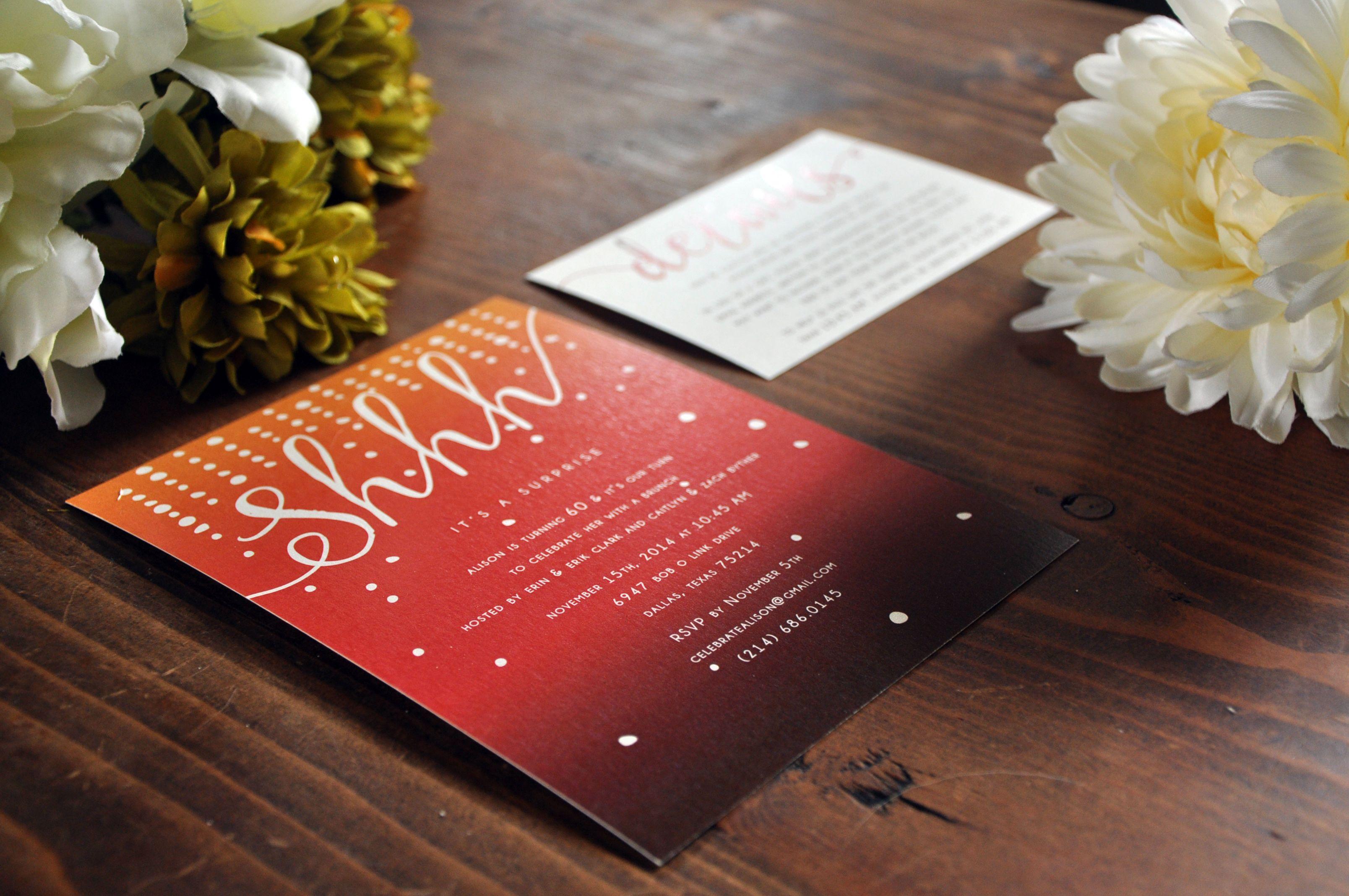 Surprise brunch birthday invite! www.upyourallydesigns.com ...