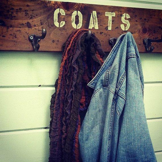 Distressed Coat Rack With Vintage Inspired Hooks 60 00