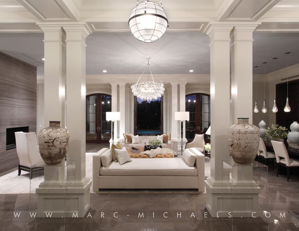 Contemporary Living Room With French Doors Bling Large Chandelier Pendant Eclectic Living Room Home Decor Online House Design