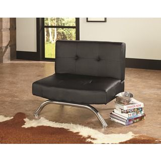 Euro Style U0027Ariu0027 Grey Leatherette Lounge Chair By Euro Style