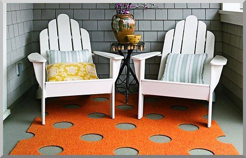 outdoor carpet that can act as a skin to soften and add color