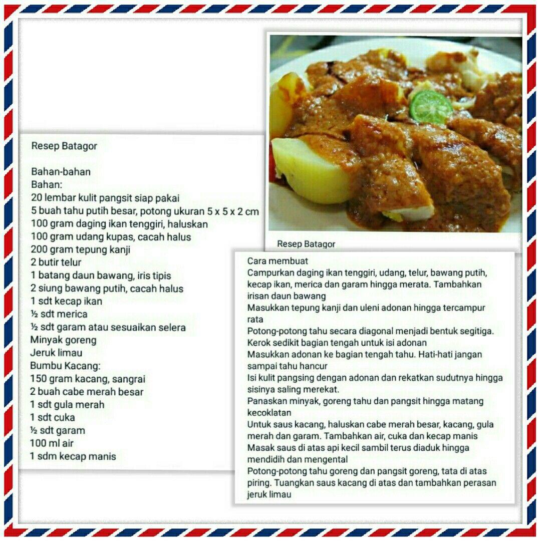 Batagor resep Resep masakan, Masakan simpel, Resep makanan