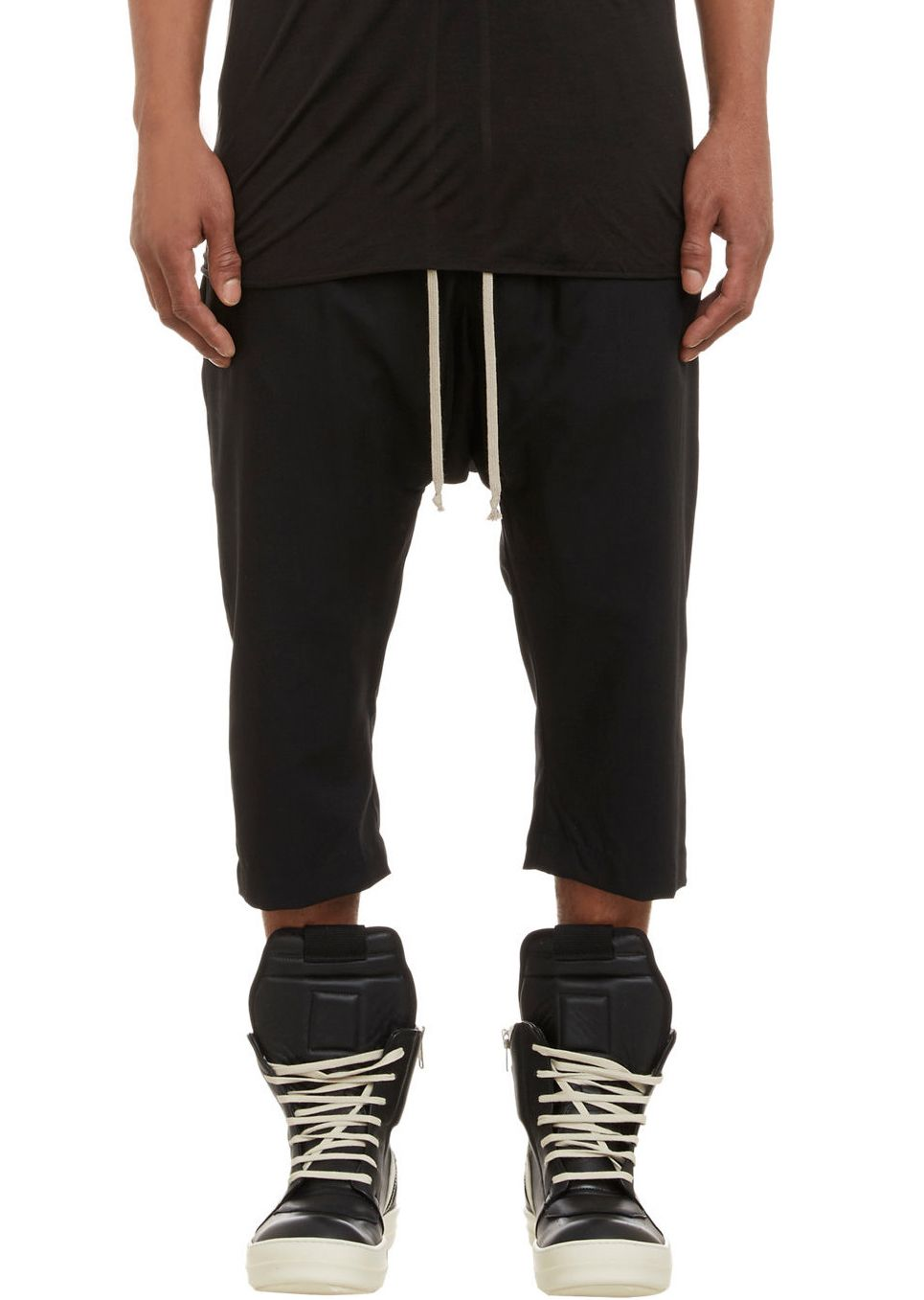 Rick Owens | Cropped Cotton Pants.