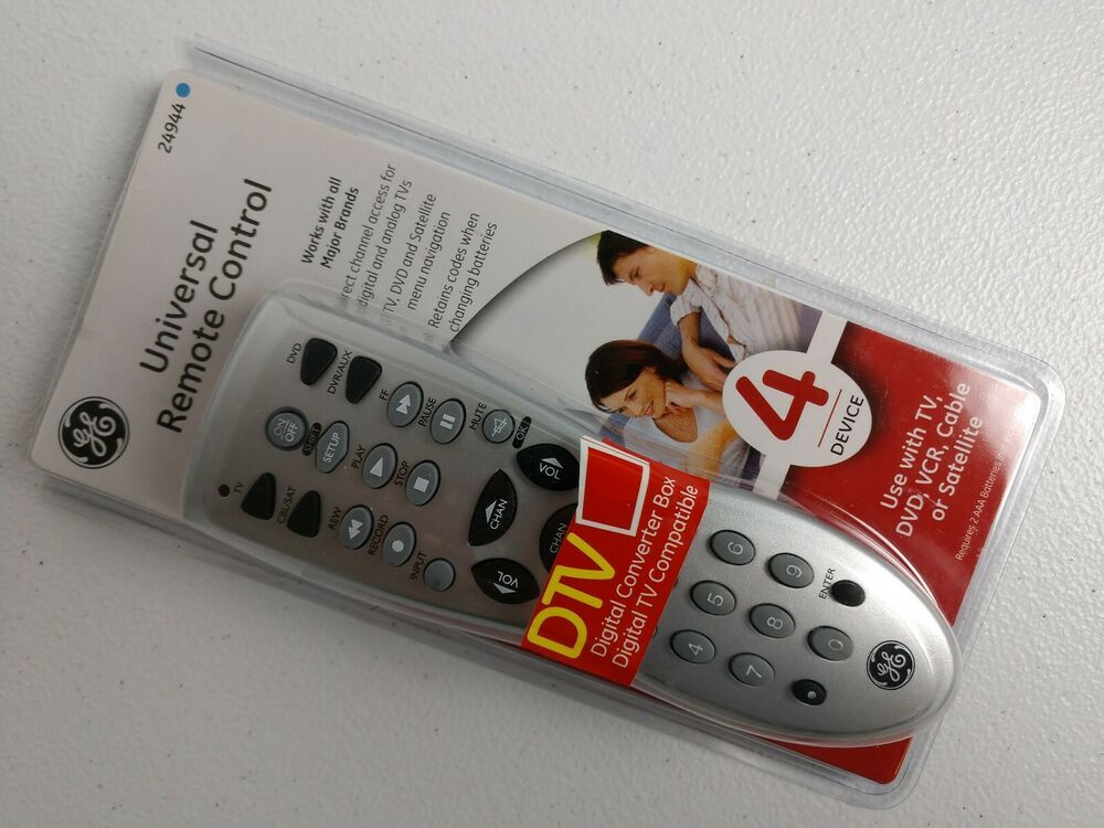 Ge universal remote 4 audio video devices 24944