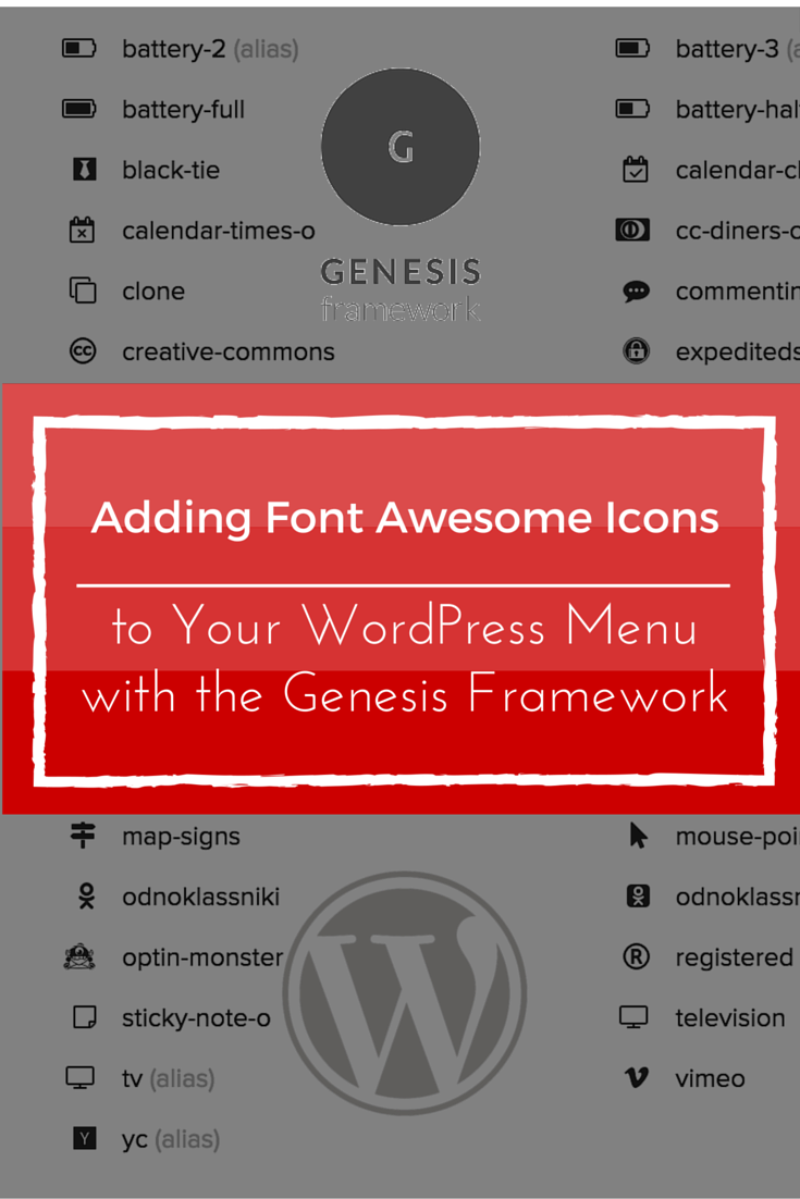 GenesisWP Adding Font Awesome Icons to Your WordPress