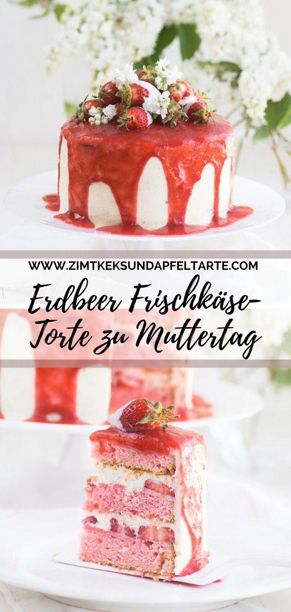 Fruchtige Erdbeer Frischkase Torte Zu Muttertag Rezept Kuchen