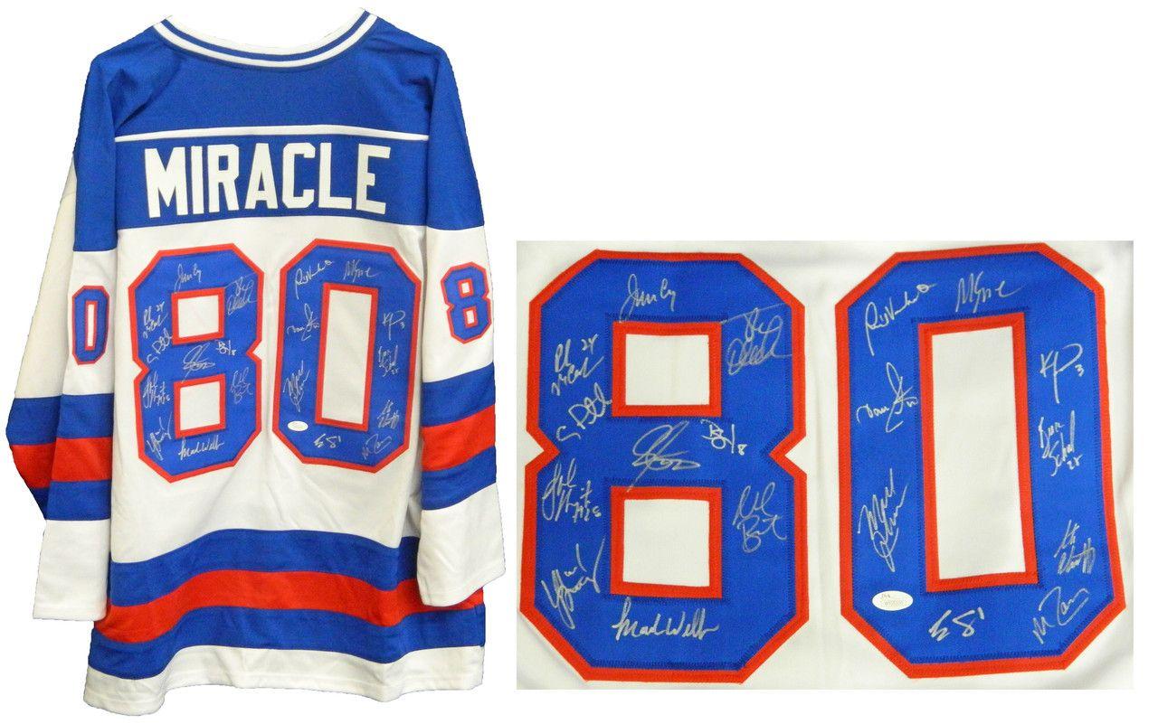1980 Usa Hockey Miracle On Ice Team Signed Usa White Custom 80 Throwback Jersey 19 Sigs Usa Hockey Jersey Autograph Jersey