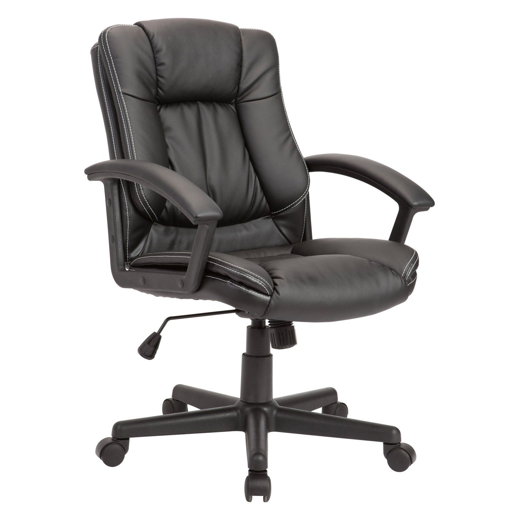 Christies Home Living Nylon Adjustable Swivel Office Chair  Black