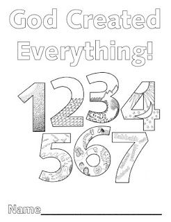 Creation Numbers Sunday School Lessons Creation Coloring Pages