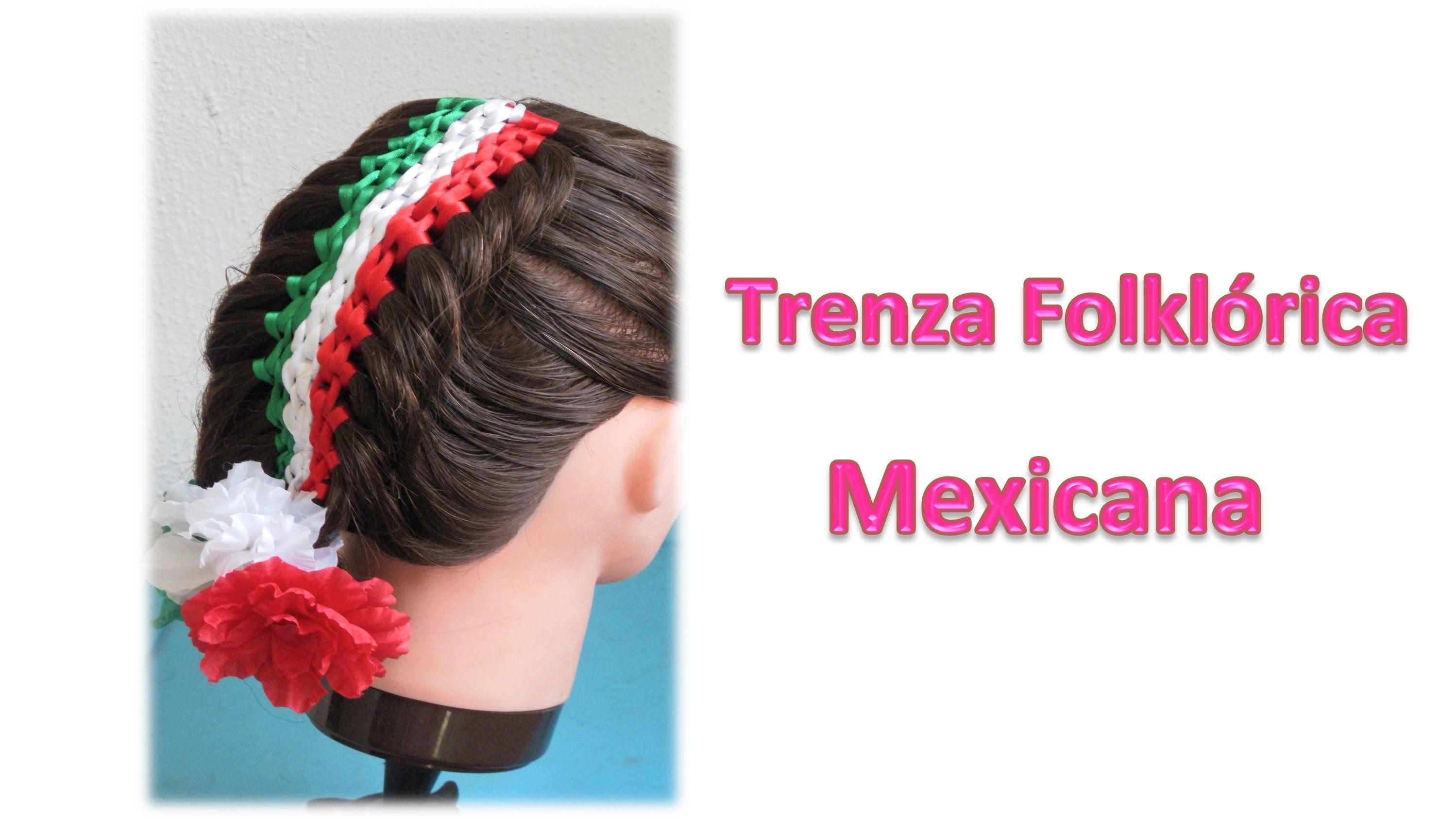 Trenza Folklorica Para Fiestas Patrias Mexico Peinados Con Trenzas Pei Peinados Con Trenzas Peinados Trenzas
