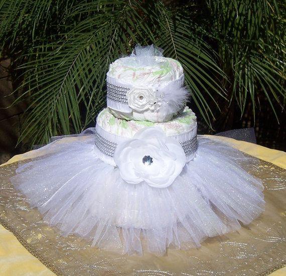 Tutu Diaper Cake Kit  WHITEBLING Baby Shower by TheTUTUForest