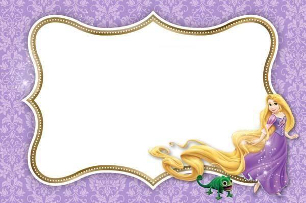Invitacion Rapunzel Para Imprimir En 2019 Invitaciones De
